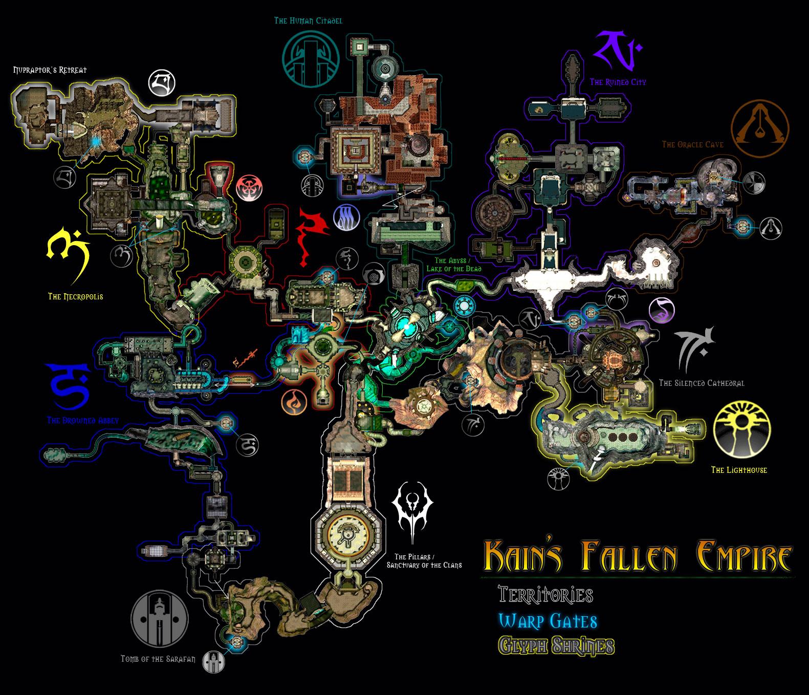 Nosgothic Realm Soul Reaver Maps
